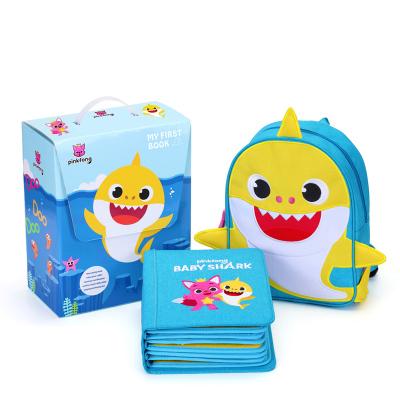【明星推薦】PinkFong碰碰狐香港蒙特梭利兒童早教游戲書myfirstbook聯名款鯊魚版布書益智玩具0-6歲土豪書