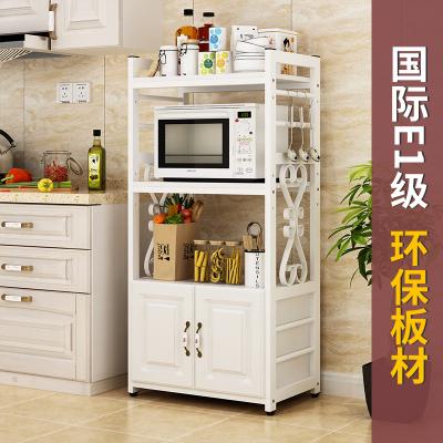 微波爐置物架多功能家用落地式歐式烤箱收納柜廚房置物架落地多層
