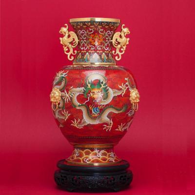 中国工艺美术师戴嘉林景泰蓝《龙腾盛世尊》