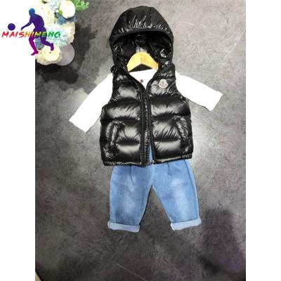 【精品特賣】兒童羽絨馬甲輕薄款男童女童連帽外穿背心休閑運動童裝面款羽絨服 邁詩蒙