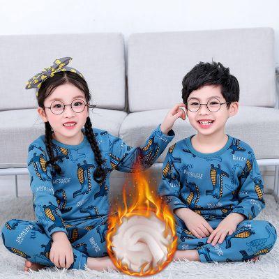 新款兒童保暖內衣加絨加厚套裝男女童秋衣秋褲中大童冬季寶寶睡衣凝驄