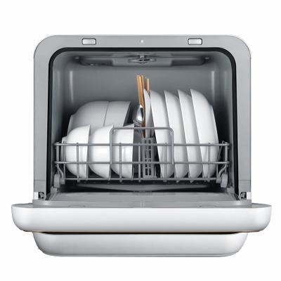 美的(Midea)M5台式洗碗机 风机风干家用台式机小型迷你机磨砂黑自动进水可预约
