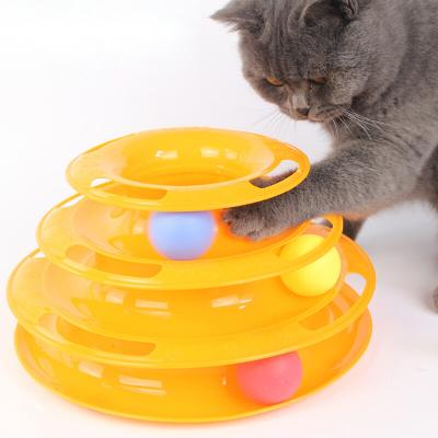憨憨寵 貓塔貓轉盤貓咪玩具寵物逗貓幼貓三層益智玩具球