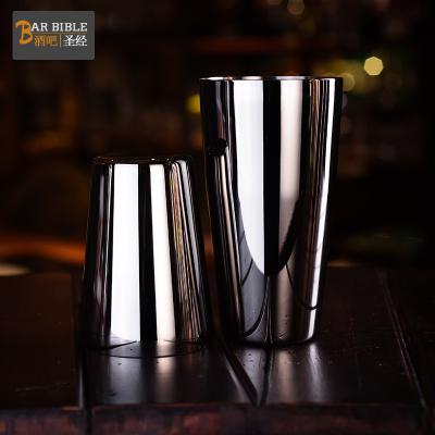 酒吧 黑色波士頓不銹鋼調酒器 雙廳不銹鋼搖酒壺 大小廳套裝【定制】 黑色