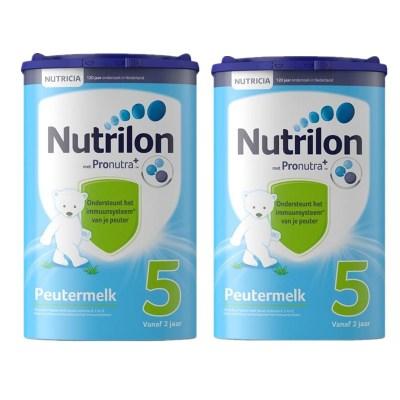 【環球hi淘】【假一賠百】2罐|荷蘭進口Nutrilon牛欄諾優能嬰兒嬰幼兒奶粉配方牛奶粉5段2歲以上800g新舊隨機
