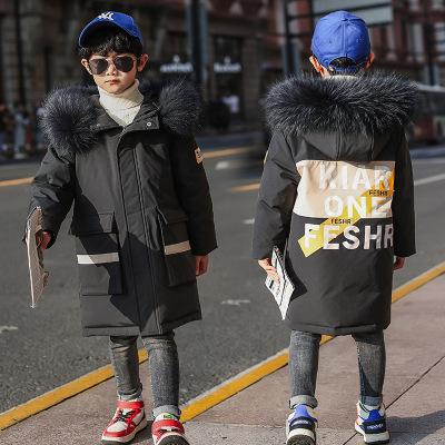 TOGOLUNE儿童羽绒服新款2019韩版男童中长款加厚宝宝童装外套一件代潮范