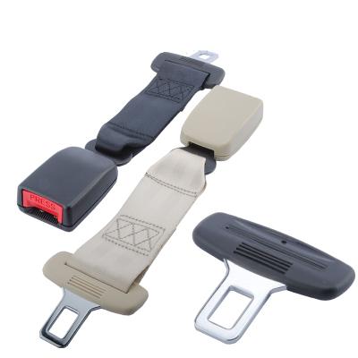 安全帶插片安全帶摳頭型多功能安全帶延長汽車安全帶閃電客加長接頭安全帶裝飾 黑色加長30cm