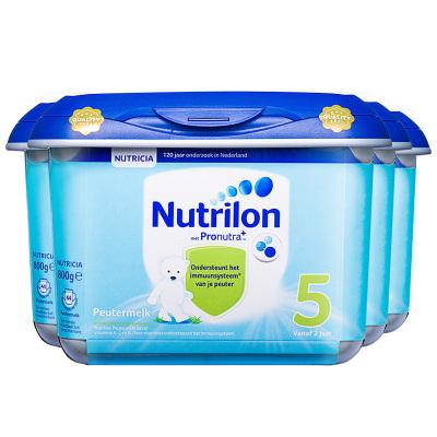4罐裝|【乳糖配方】荷蘭牛欄 諾優能荷蘭版 Nutrilon海外 兒童配方奶粉 安心罐 5段(24月以上)800g/罐