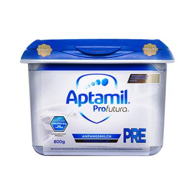 aptamil德國愛他美嬰幼兒配方奶粉白金版pre段800g/罐安心罐0-6個月