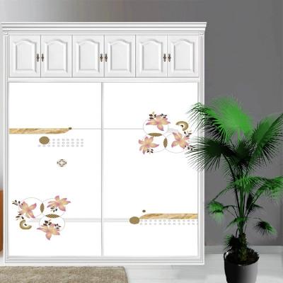 衣柜CIAA定做衣櫥推拉壁柜簡約滑動3定制鋼化玻璃衣柜移 1