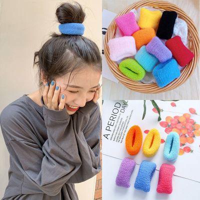 頭繩女韓版可愛彩色大腸圈網紅ins簡約扎頭發毛巾橡皮筋成人發圈