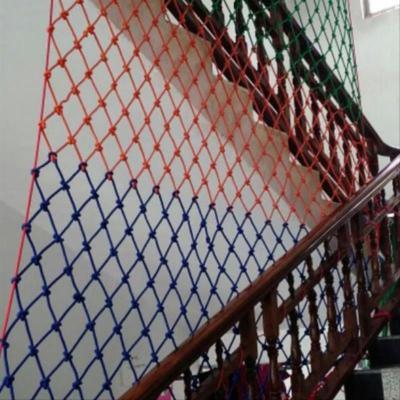 埃瑞達幼兒園防護網戶外彈絲防墜網欄桿安全欄塑膠加粗尼龍網防盜窗兒童 P634毫米繩12厘米網孔/每平方J69