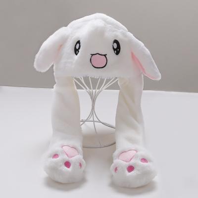 抹炫(MOXUAN)兔子耳朵帽子萌萌加绒保暖帽儿童女童会动的兔耳朵帽