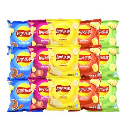 樂事 薯片 15g*8包 混合口味 膨化食品小包裝薯片網紅辦公室休閑薯條零食