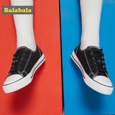 【1件5折】巴拉巴拉儿童帆布鞋女童鞋中大童鞋子男2019春秋小白布鞋休闲鞋潮