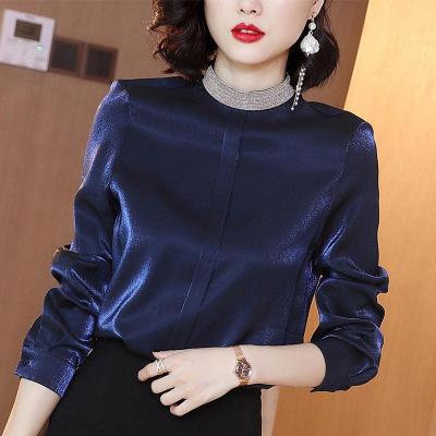 【预售年后发货】衬衫女设计感小众2020秋冬新款加绒打底衫时尚洋气港风雪纺上衣