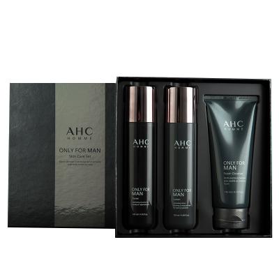 AHC愛和純男士護膚品套裝水乳三件套盒洗面奶護理洗臉全套補水保濕控油平衡護膚套裝