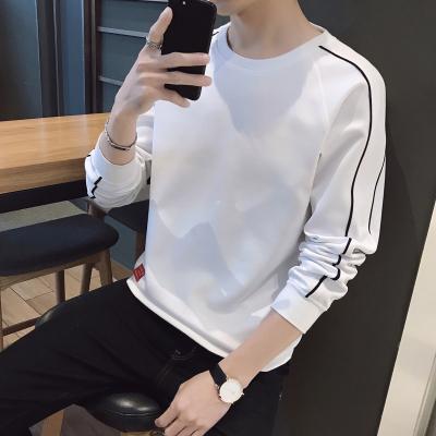 梵·戴克2020春装新款男士T恤韩版宽松长袖圆领套头卫衣男上衣体恤男潮流打底衫B250WY3070