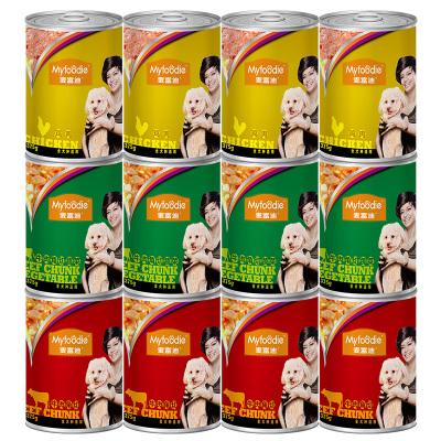 麥富迪犬用罐頭雞肉蔬菜罐頭375g狗狗零食狗罐頭拌飯金毛牛肉罐頭狗濕糧寵物零食