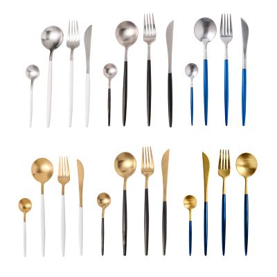 曉云都YD16北歐ins風網紅不銹鋼勺子刀子叉子刀叉勺套裝吃牛排西餐餐具家用全套兩多色三件套高檔安全材質易清潔