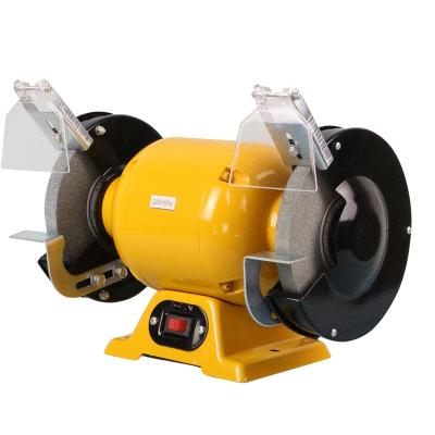 台式小型砂轮机手提家用220v电动磨刀机抛光机多功能沙轮机工业级 重型6寸砂轮机含两片砂轮