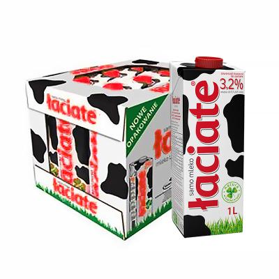 蘭雀(Laciate)全脂純牛奶 3.2% 1L*12盒/箱 波蘭牛奶 學生牛奶 箱裝奶 牛奶箱裝 送禮禮盒 UHT