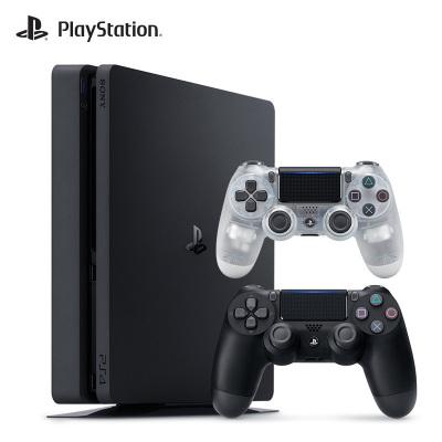 【套餐】索尼(SONY)PS4 slim 500GB 黑色 國行家用游戲機+游戲手柄(晶透白)