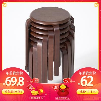家逸(JIAYI)实木凳子椅子小板凳餐凳高矮凳休闲登子圆凳家用