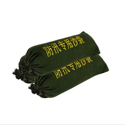 消防防护用品 消防防洪防汛抗洪救灾帆布沙包袋70*25CM (不含沙)军绿色