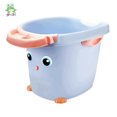 DUDI/青蛙嘟迪 母嬰幼兒童嬰兒浴盆寶寶洗澡盆兒童加厚保溫洗澡桶可坐可躺小孩泡澡沐浴桶 紫色