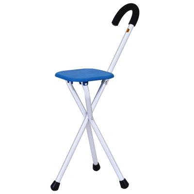 老人拐杖鎂合金防滑拐杖椅帶凳老年人三腳拐杖凳手杖輕便拐棍