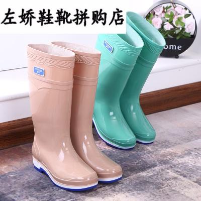 果冻雨鞋防水鞋雨靴胶鞋套鞋水靴女成人中筒高筒长筒时尚防滑夏季