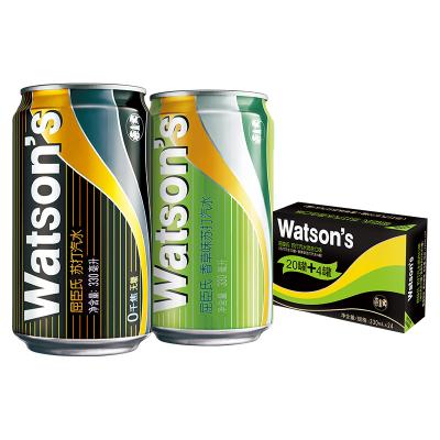 屈臣氏(Watsons)调酒系列苏打混合330ml*24(原味20罐 + 香草味4罐)苏打水 饮用水