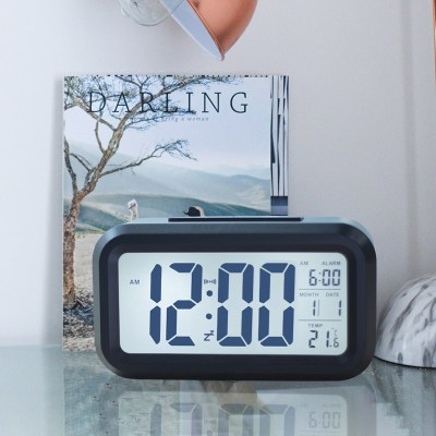 久久达LED电子闹钟时钟 夜光 时尚床头钟 学生懒人贪睡聪明静音小闹钟
