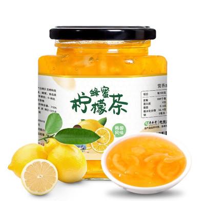 【買2送杯勺】序木堂蜂蜜檸檬茶500g罐裝沖水喝的飲品檸檬茶沖飲沖泡水果茶醬