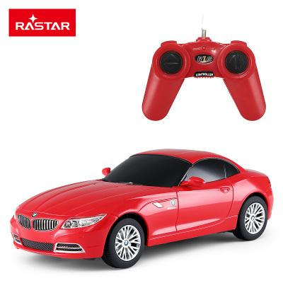 星輝(Rastar)1:24寶馬Z4遙控車 兒童玩具電動遙控車模型39700紅色