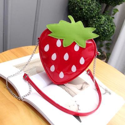 韓版可愛女童斜挎包兒童小包包幼兒園寶寶背包卡通莓斜跨單肩包