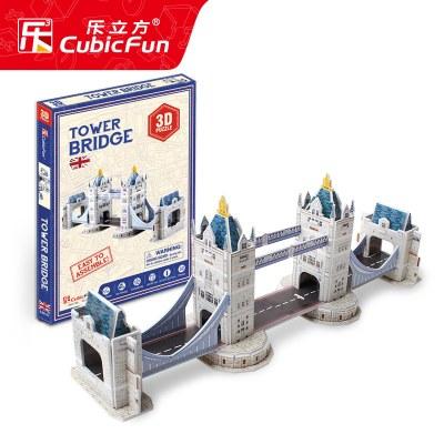 米圣藍樂立方3d立體模型迷你建筑智力開發男孩兒童拼圖玩具女3-6歲4 帝國大廈