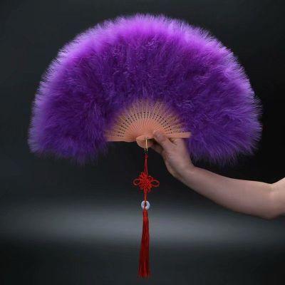 因樂思(YINLESI)升級版精品毛扇子 標準扇子 舞蹈扇子舞臺羽毛扇大號舞蹈羽毛扇子