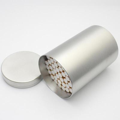 創意禮品 煙盒 創意男士煙盒大容量50支裝簡約時尚不銹鋼罐金屬煙筒儲物罐煙盒 磨砂50支裝送禮