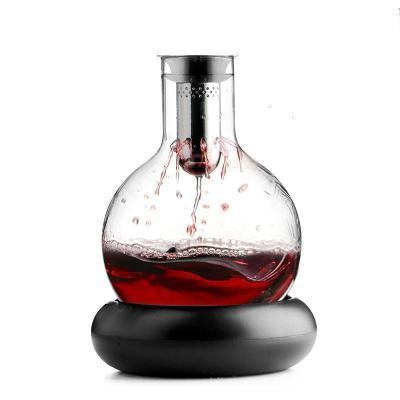 單只丹麥醒酒器1500mll 創意水晶玻璃紅酒醒酒器套裝家用葡萄酒瓶快速瀑布式醒酒壺分酒器【定制】