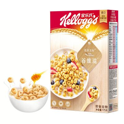 泰国进口 家乐氏(Kellogg's)谷维滋即食营养谷物 进口冲调代餐 含燕麦早餐175g