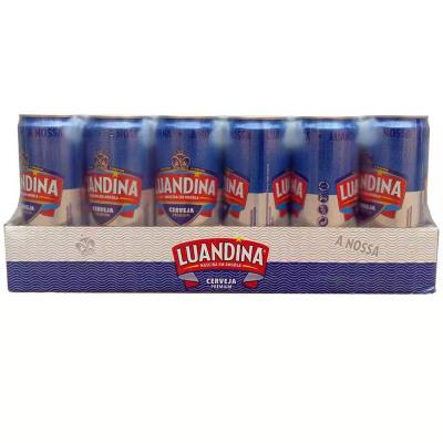 非洲安哥拉进口啤酒 罗安娜易拉罐听装 麦芽黄啤酒 330mL*24