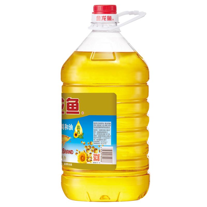 金龙鱼 葵花籽调和油食用油5L