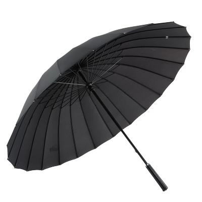 美度 24骨超大男士商務長柄晴雨傘 M5003黑色