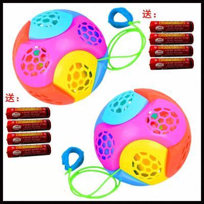 球玩具發光拼裝跳跳球兒童玩具音樂翻滾球閃光旋舞電動跳跳球