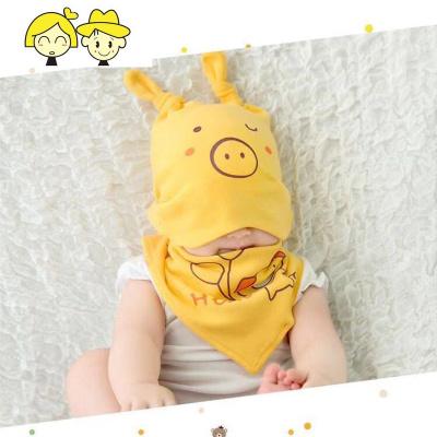 婴儿帽子春秋保暖护耳0-3-6-12个月儿胎帽男女宝宝套头帽  绿彩虹光