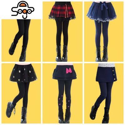 女童裤裙假两件加绒加厚棉裤外穿女孩子冬装保暖裙裤儿童2019新款