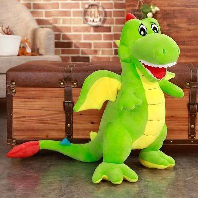 【品牌特賣】 可愛翼龍公仔毛絨玩具大號卡通恐龍抱枕布娃娃兒童生 綠色翼龍【唱歌款】 60厘米兒童禮物