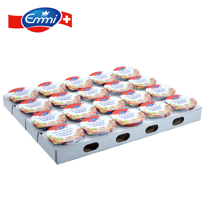 艾美Emmi草莓风味酸乳100g*20 瑞士原装进口酸奶 活性乳酸菌无添加浓稠低温酸奶早餐奶
